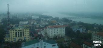 Η θέα από τον 17 όροφο του Imperial στο Χουέ (Hue), Βιετνάμ