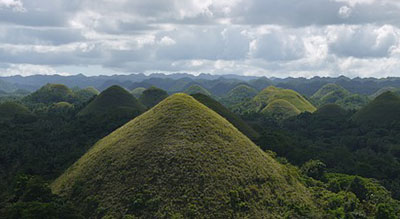 Chocolate Hills Natural Monument (Bohol Island) Philippines