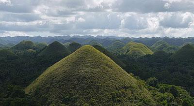 Chocolate Hills Natural Monument (Bohol Island) Philippines