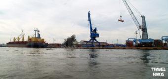 Τα λιμάνια της Σαϊγκόν κατά την πορεία μας προς τον Μεκόνγκ Δέλτα, Βιετνάμ