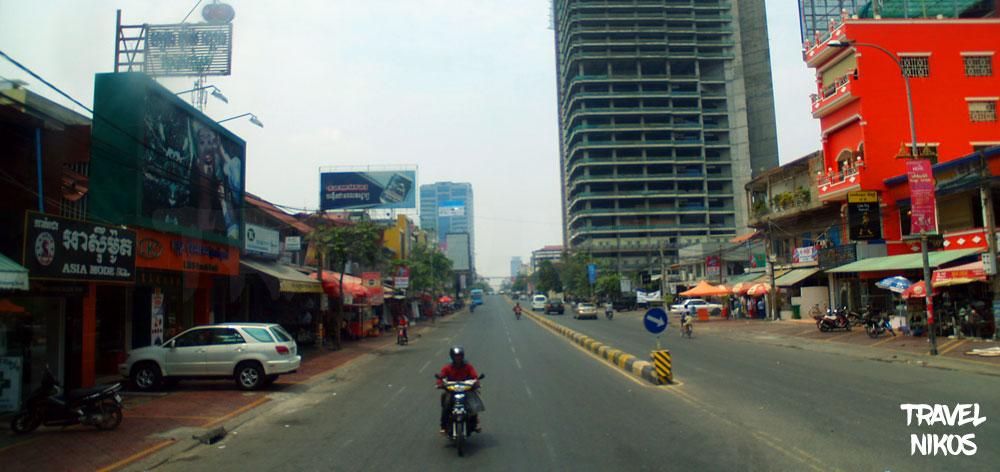Μπαίνοντας στην Πνομ Πενχ