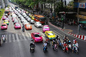 Getting around Bangkok by taxi