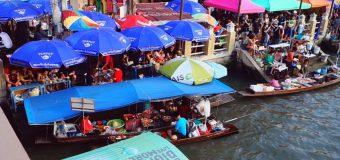 Η απογευματινή πλωτή αγορά της Ταϊλάνδης γνωστή ως Amphawa