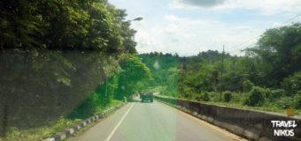 Η διαδρομή προς το Sangkhla Buri, Kanchanaburi Ταϊλάνδη