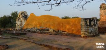 Το μεγάλο ξαπλωτό άγαλμα του Βούδα στην Αγιούταγια