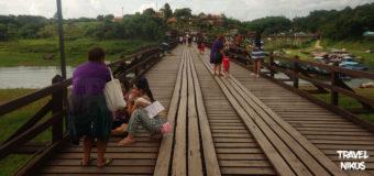 Η γέφυρα Mon η μακρύτερη ξύλινη γέφυρα της Ταϊλάνδης
