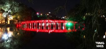 Η κόκκινη γέφυρα Huc στο Ανόι του Βιετνάμ
