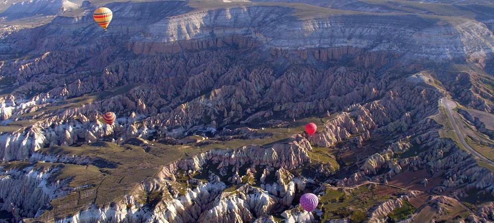 Καππαδοκία από το αερόστατο