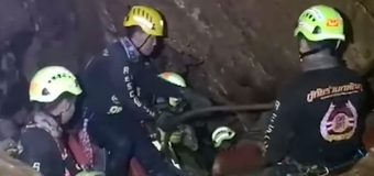 Σκηνές μέσα από την σπηλιά Λουάνγκ της Ταϊλάνδης και από τους δύτες