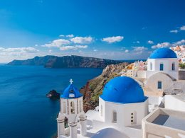 Santorini Island in the Aegean Sea