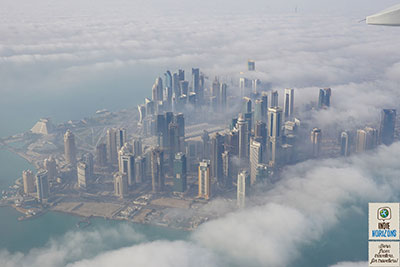 Qatar, the business district of Doha from above