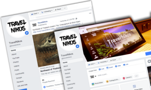 TravelNikos Facebook, Social Media