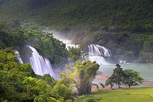 Ban Gioc Waterfall Vietnam China, Βιετνάμ