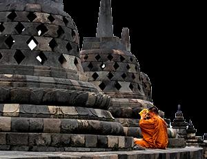 ο ναός Borobudur στην Ινδονησία