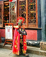 People of Chengdu in their traditional costumes