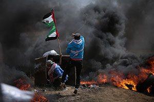 Λωρίδα της Γάζας, μεταξύ της Αιγύπτου και του Ισραήλ