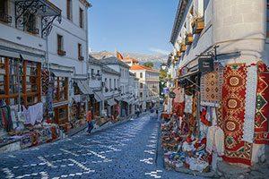 Gjirokaster City in Albania