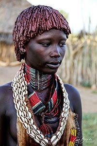 Hamer girl. Ethiopia