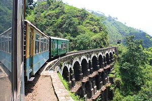 Kalka–Shimla railway, India Ινδία