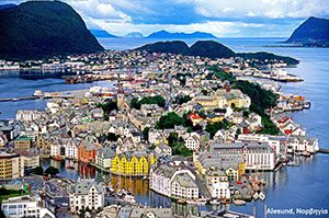 Alesund Town in Norway