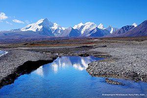 Όρος Shishapangma των Ιμαλαϊων και Λίμνη Peiku, Θιβέτ