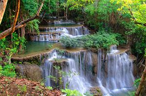 Huay Mae Khamin Waterfalls, Si Sawat