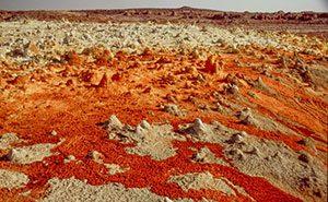 Danakil Desert in Africa