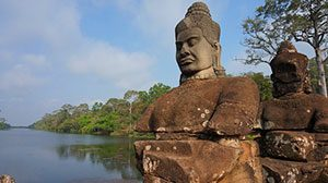 South Gate of Angkor Thom Fills Visitors with Wonder