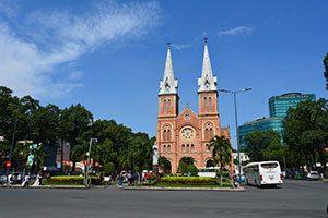 Notre Dame Cathedral Saigon in Vietnam