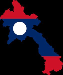 Λάος Laos Map
