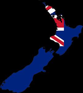 Νέα Ζηλανδία, New Zealand Map, pixabay