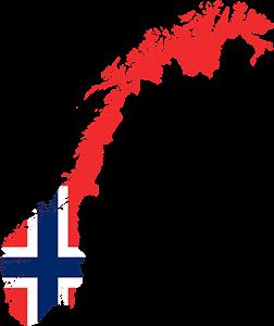 Νορβηγία, Norway Map, pixabay