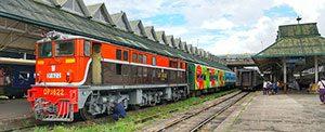 Yangon Railway Burma Myanmar,