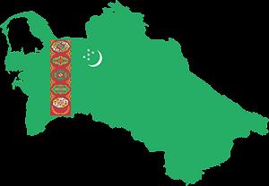 Τουρκμενιστάν, Turkmenista Map, pixabay