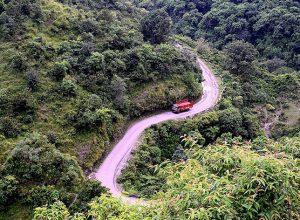 Διαδρομή από Amba Ghat, Ratnagiri Kolhapur Maharashtra, Ινδία