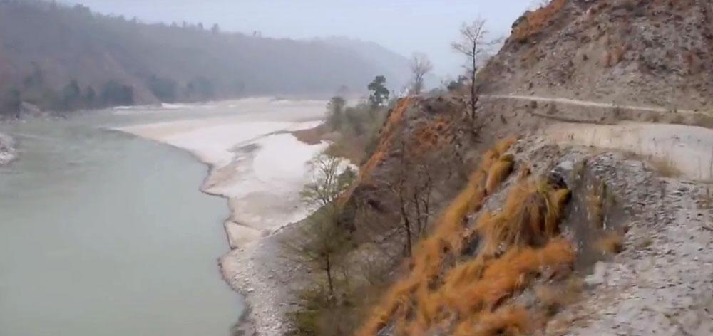 Arun River Road in Nepal