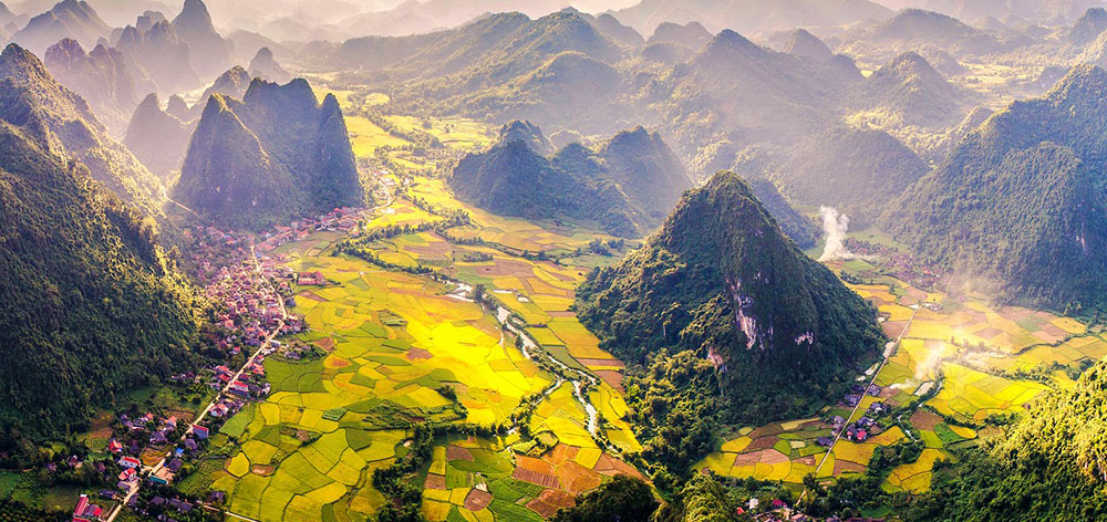 Bac Son Valley (Lang Son) rural area in Vietnam, beautiful scenery