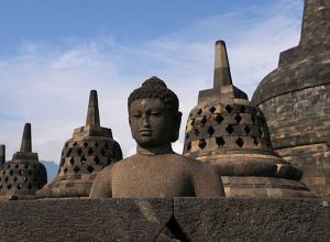 Borobudur Temple Compounds, three Buddhist temples in Central Java, Indonesia