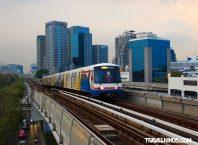 Εναέριος Σιδηρόδρομος της Μπανγκόκ - Δρομολόγια και Σταθμοί