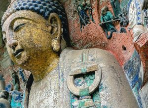 Dazu Rock Carvings a series of Chinese religious sculptures in Chongqing, China