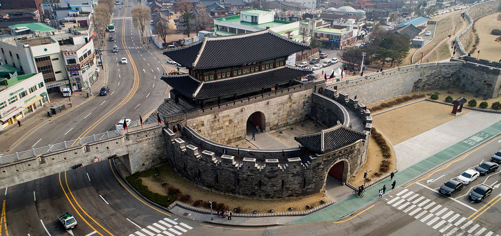 Hwaseong Fortress or Suwon Hwaseong, Gyeonggi-do, in South Korea