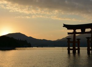 Itsukushima Shrine a Shinto shrine on the island of Itsukushima, Japan