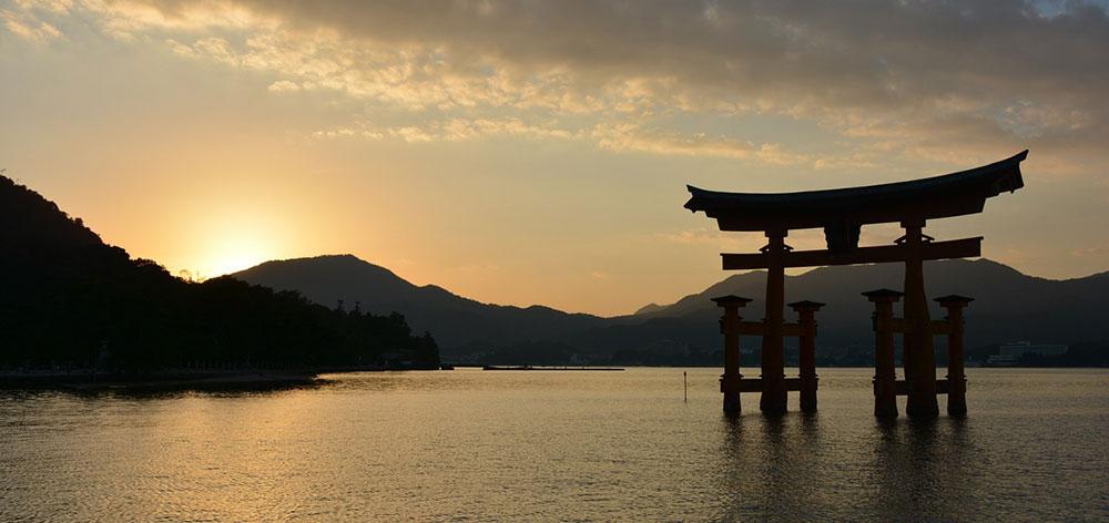Itsukushima Shrine a Shinto shrine on the island of Itsukushima, Japan