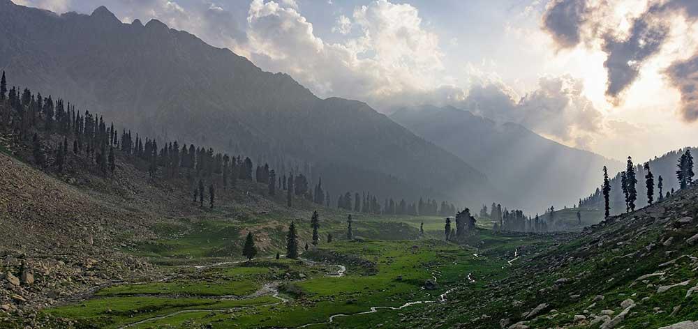 Jahaz Banda, a large meadow in Kumrat Valley, Pakistan