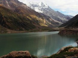 Lake Saiful Muluk, a mountainous lake in Kaghan Valley Pakistan