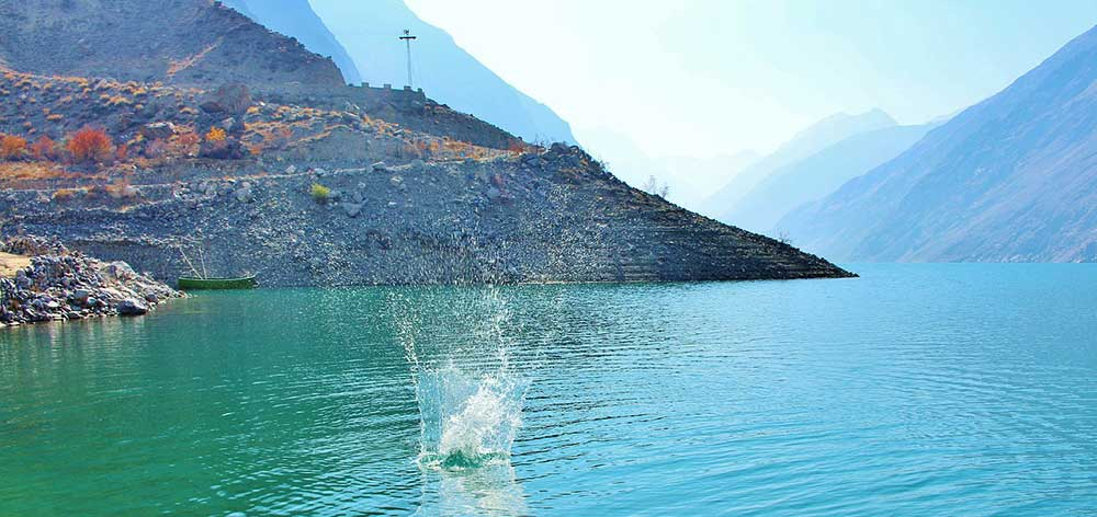 Satpara Lake, a natural lake near Skardu, Gilgit-Baltistan, Pakistan
