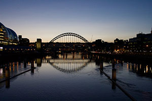 Newcastle upon Tyne City in England