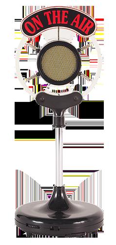 Microphone μιοκρόφωνο on the air