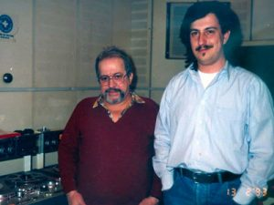 Το 1993 στο στούντιο της ΕΡΑ, μαζί με την συνεργάτη μου Γιάννη Μισαηλίδη