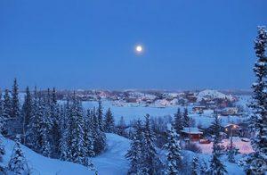 Yellowknife City in Canada
